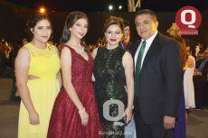 Bianca Moctezuma, Valeria Salgado, Alejandra Moctezuma y Marco Salgado