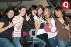 Andrea López, Mariana Vega, Caro Tort,Thalía Aguirre, Isabel Romo y Mariel Velázquez