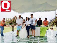Gerardo Ayala,Guto Ayala, Julie Quiroz y la reinita Bárbara Hernández