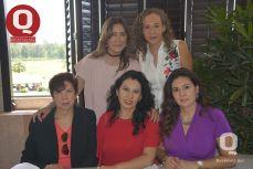 Luly Oliva, Vianney Sámano, Elvia Álvarez de Sámano, Lorena Sámano y Aracely Sámano