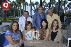 Jesús Pérez, Francisco García, Jesús del Moral, Anita Carranza, Adriana Trujillo, Alicia Padilla y Aida Rangel