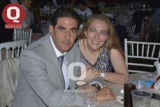 Raúl Campos con Mercedes Bello