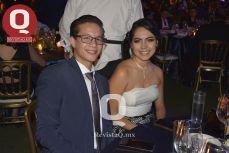 Benjamín Ayala con Luisa Florian