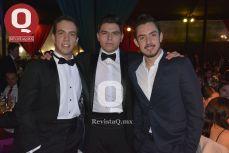 El Lic. Christopher Muñoz, el Lic. Carlos Cardona y el Ing. Emilio de la Serna