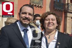 Jorge Jiménez y Lucía Limón