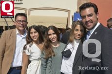 Vladimir Elorza, Regina Elorza, Sofía Elorza, María Ramírez y Eduardo Ramírez