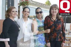 Magda Rábago, Cristina García, Claudia García y Lorena Aguirre,