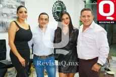 Claudia Castañeda, Adrián Arredondo, Paola Morales y Oswaldo Ortega
