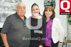 Javier Castañeda, Karen Ortega y Arcelia Esqueda