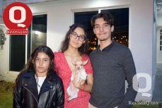 Andrea Cabrera, Victoria Cabrera y Jorge Cabrera