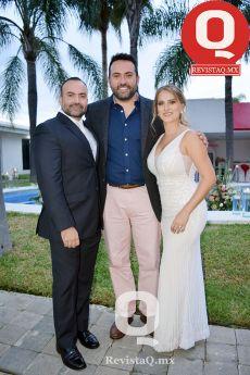 Jorge Cabrera, Aldo Márquez y Alexa Gilbert