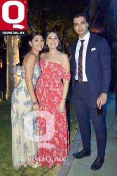 María José Farías, Mariana Farías y Diego López