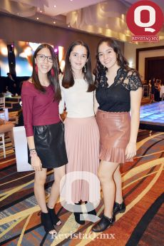 Ana Paula Zafra, Andrea Rocha y Daniela Sánchez