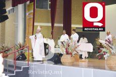 Aspecto del acto religioso que oficiaron Mons. Armando Cortés Contreras y José Luis Rivero S.J.