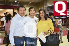 Gerardo Guerrero, Fabricio Guerrero y Angélica Martínez