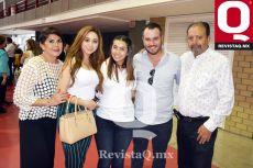 Lucía Hernández, Jessica Monroy, Lucía González, Emmanuel Castro y Eduardo González