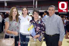 Rosa María Márquez, Lucero Martínez, Marcia Ramírez y Emilio Martínez