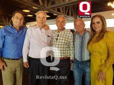 Mario Moreno, Francisco Mendiola,Agustin González Leñero, Fernando Videgaray y Gina Videgaray