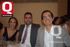 Fabiola Aceves, Diego Espinoza y Toño Sillas.