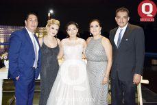 Edgar Cañedo, Karla Durán, Alexa Padilla, Alejandra Orozco y Sergio Padilla