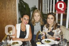 Lupita Saldaña, Georgina Acevedo y Sofía Guillén