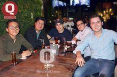Rafael Ayala, Aldo Hernández, Andrés Macouzet, Diego Briseño y Edgar Váldez