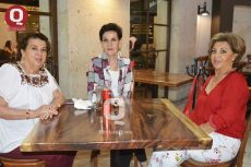 Tere Aguirre, Prieta Rincón Gallardo y Mayuya Hernández