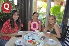 Fanny García, Blanca Ortiz y Tania Rodríguez