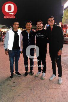 Beto Martínez, Carlos Hernández, Sebastián Ortiz y Alexis Romo