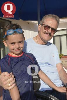 Carlos Damian Quintana y su abuelo Jorge carlos Obregón