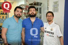 Iván Gutiérrez, Alexander Gutiérrez y Ernesto Hernández