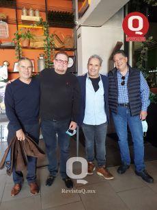 A  Fabio Maquiavelo, Helmut Stoever, Lalo Maquiavelo y Manuel Fernández