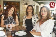 Rosy Colofon, Luz Angélica Gómez y Rosa Guerrero