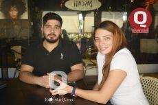 Tarek Peña y Andrea Hernández