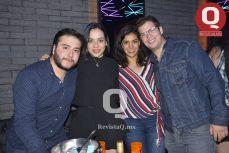 Bruno Andrade, Aimé Abdo, Mariana Fernández y Juan Molina