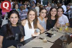 Claudia Laborde, María del Mar Borges, Emilia Aranda, Luza Collazo y Pamela Campos