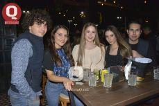 Fabián Muñoz, Daniela Marentes, Damaris Martínez, Karen Villalpando y Orlando Magaña