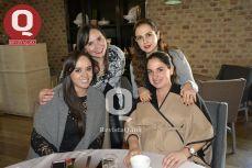 Yanaí Rojas Rócha, Laila Vázquez Nassar, Saly González Torres y Arlette Vázquez Nassar.