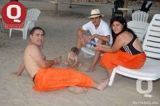 Óscar Flores y Víctor Franco  en familia