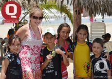 Mariana Guerra, Fernanda Dorantes, Fabricio Guerra, María Dorantes, Isabela Cuéllar y Juan Cuéllar