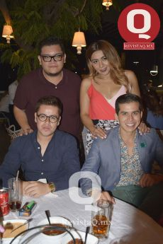 Mario Preciado, Cinthya Blancarte, Humberto Lozano y Daniel Lemus