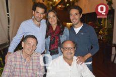 José Antonio Vallarta, Paty Valles, Santiago Vallarta, Antonio Vallarta y Lorenzo Roel