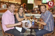 José Torres, Liliana Rodríguez y Francisco Ruiz