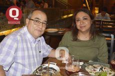 Juan León y Gisela Rangel