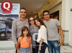 Alejandro Durán, Mónica Padilla, Andrea Durán, Alex Durán, y Daniela Durán