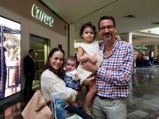 Sofía Sánchez y Juan Carlos Blanco en familia
