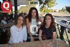 Claudia Pérez, Andrea González y Yanny González
