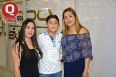 Loredmy González, André González y Angélica González