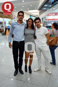 Manuel Morales, Valeria Gómez y Brandon Herrera