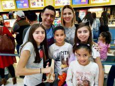 Sergio González, Toño González,Cinthya Bayod, Dani González y Cinthya González